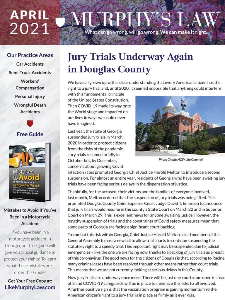 Murphy Law Newsletter April 2021